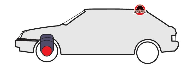 Поперечне розташування двигуна з приводом на передні колеса