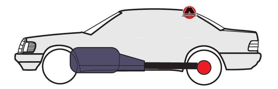Подовжнє розташування двигуна за передньою віссю з приводом на задні колеса