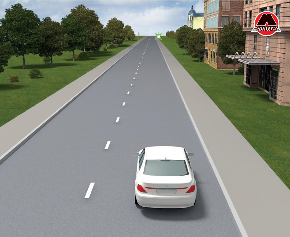 Не увеличивать скорость перед светофором
