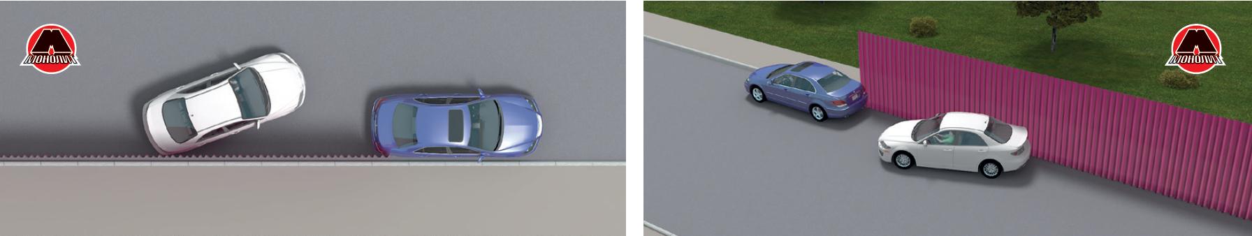 Ориентир парковки штора